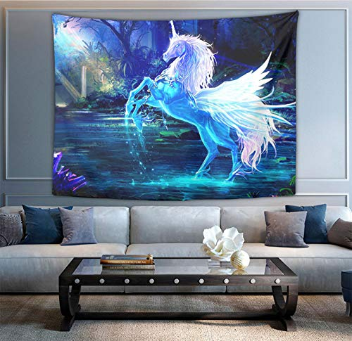 NiYoung Starrry Crystal Cartoon Unicorn Tapestry, Boho Bedding Tapestry Wall Hanging Tapestries - Multi-Purpose Indian Decorations Home Art Living Room Bedroom Dorm Room]()