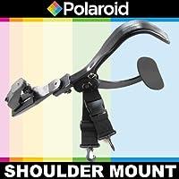 Polaroid Stabilizing Camcorder/Camera Video Shoulder Mount For The Sony NEX-VG10, NEX-VG20, HDR-NX5U, PJ790V, PJ650V, PJ430V, CX430V, TD30V, PJ380, CX380, PJ230, CX290, CX230, CX200 Handyman Camcorder