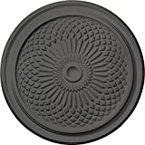 Ekena Millwork CM22TNSGS 22'' OD x 1 3/4'' P Trinity Ceiling Medallion fits Canopies up to 3'', Steel Gray