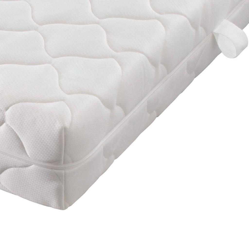 Furnituredeals Cama matrimonial Cama de Matrimonio y colchon Cuero Artificial 140x200 cm Negra Camas: Amazon.es: Hogar
