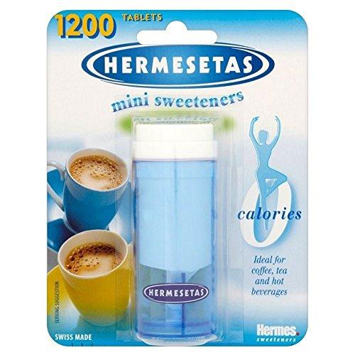 Hermesetas Mini Sweeteners (1200 per pack) - Pack of 2 (Equal Tabs)