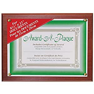 NuDell Award Plaque 13 x 10.5 Inches Walnut (18811M)