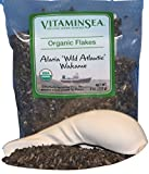 Raw Wild Wakame Flakes Brown Alaria Seaweed (4 oz) USDA Organic and Kosher Hand Harvested from the Atlantic Ocean Maine Coast Vegan Sea Vegetables | Fucoidan Rich from VitaminSea (Wakame Flakes, 4 oz)