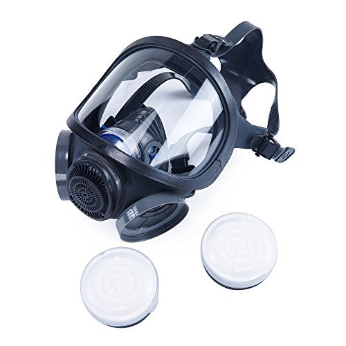 Holulo ST-M70-3 Organic Full Face Respirator Safety Mask (ST-M70-3 Mask+1 Pair 3# filter Cartridges) by Holulo (Image #5)
