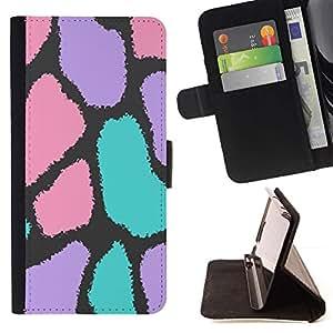 Momo Phone Case / Flip Funda de Cuero Case Cover - Spots Modelo abstracto del animal de piel - HTC One M7