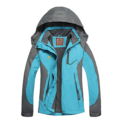 Athletic Hooded Jacket (Women's Hooded Waterproof Jacket - Diamond Candy lightweight Softshell Casual Sportswear)