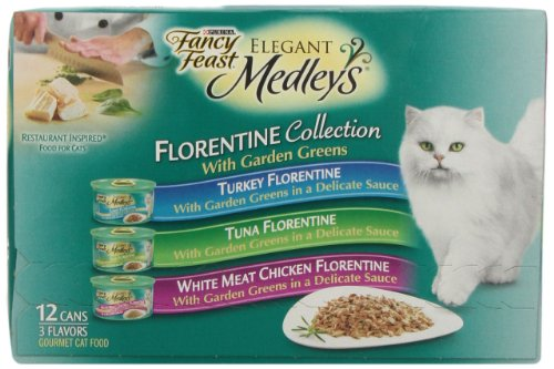 Cheap Fancy Feast Elegant Medleys Cat Food, Florentine Collection Variety Pack, 12 ct, 3 oz
