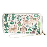 Best Pattern Wallets - Kukoo Women Zipper Long Wallet Cactus Removable Wristlet Review