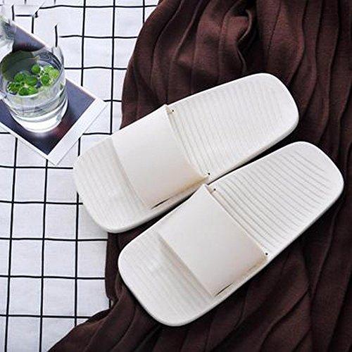 de de Blanc 36 Unie Bain Pantoufles D'Été 37 DIDIDD Simples Couleur Sandales qBUT64