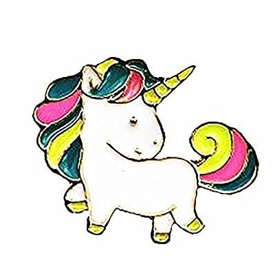 Discount Timlee Cute Rainbow Unicorn Enamel Pins for cheap