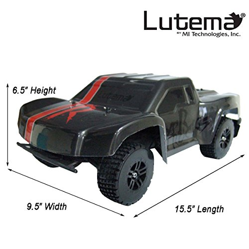 Lutema HYP-R-Baja 2.4 GHz High Speed Remote Control Baja King SUV Truck, Gray, One Size from Lutema