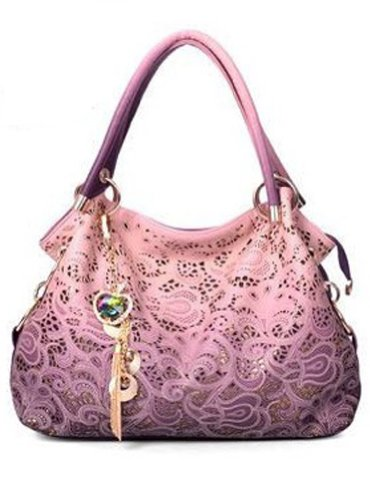 Keral Women Handbag Shoulder Bag Travel Bags_Pink