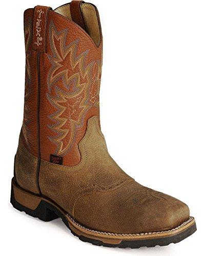 Tony Lama Men's Steel Toe TW1052 Work Boot,Antique Brown Montana/Acorn Deercow,11.5 D US (Tony Lama Work Boots Steel Toe compare prices)