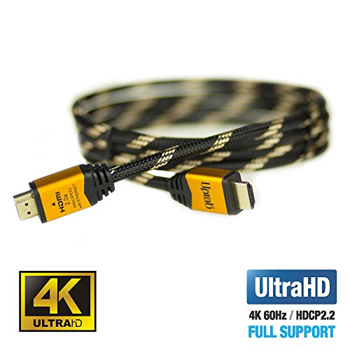 UPTab HDMI 2.0a Cable 6 FT - UHD 4K@60Hz with HDR - Braided