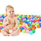 TrendBox 100 Colorful Ocean Ball (Ship From USA) For Babies Kids Children Soft Plastic Birthday Parties Events Playground Games Pool