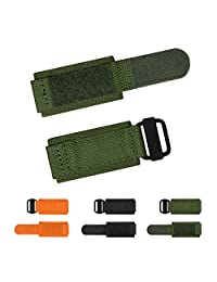 INFANTRY 24mm Military Nylon Watch Band Replacement Strap Metal Hook Loop Fastener Diver Green
