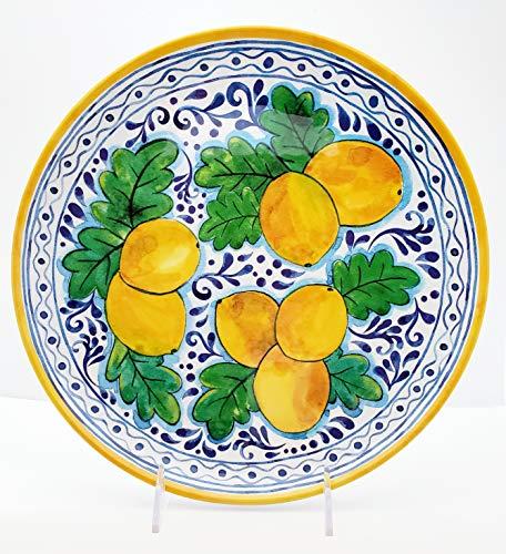 Dinner Lemon - IL Mulino Tuscan Scroll Lemon Dinner Plates 100% Melamine 11