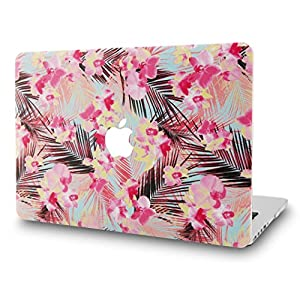 "KEC MacBook Pro 13"" Retina Case (2015) Cover Plastic Hard Shell Rubberized A1502 / A1425 (Flower 9)"