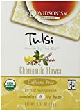 Davidson's Tea Tulsi Chamomile Flower, 8-Count Tea Bags (Pack of 12)