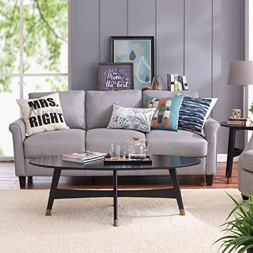 Southern Enterprises AMZ1362KC Rhoda Oval Cocktail Coffee Table, Black