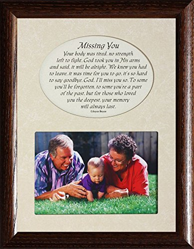 Amazon.com - MISSING YOU Picture & Poetry Memorial/Bereavement ...