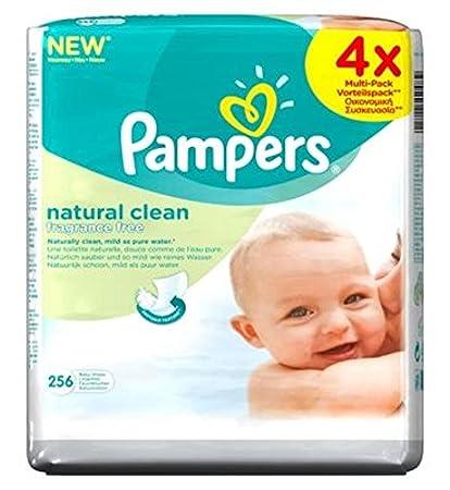 Pampers Bebé Limpio Naturales Toallitas 4X64Packs 256 Toallitas