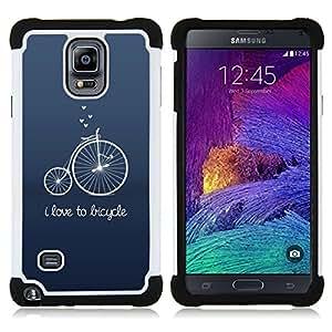 For Samsung Galaxy Note 4 SM-N910 N910 - old unic blue text hipster Dual Layer caso de Shell HUELGA Impacto pata de cabra con im??genes gr??ficas Steam - Funny Shop -