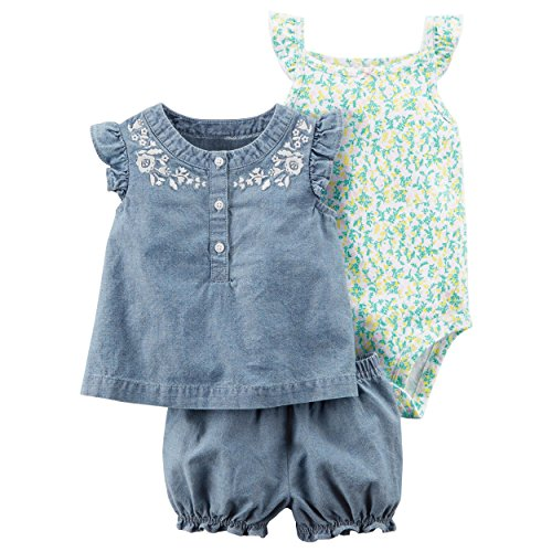 Diaper Baby Carters (Carter's Baby Girls' 3 Piece Bodysuit and Diaper Cover Set 24 Months)