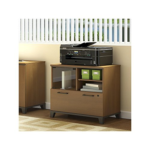 Achieve Printer Stand File Cabinet - Soho Cherry Finish