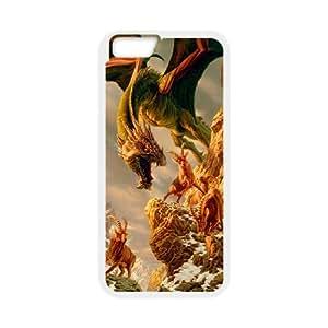 "Custom LiuXueFei Phone caseDragon Art Desigh For Apple Iphone 6,4.7"" screen Cases -Style-2"