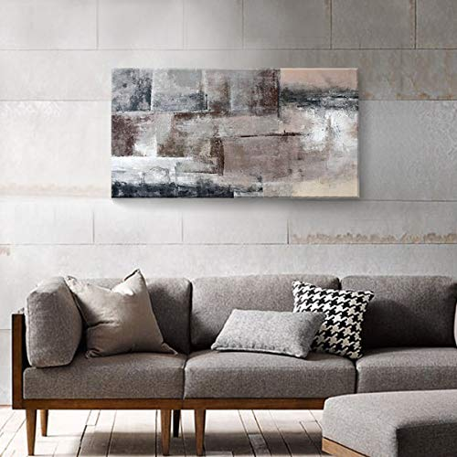 SDYA Large Abstract Wall Art Hand Painted Decor Oil Painting on Canvas Framed 48 inches x 24 inches Large Hand Painting Modern Artwork Wall Art for Living Room Bedroom Office Hotel and Dining Room (Living Modern Room For Decor Wall)