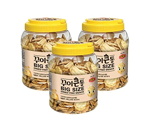 Murgerbon Dried Fish Snack Chips 290g, 10.2oz (Pack of 3)