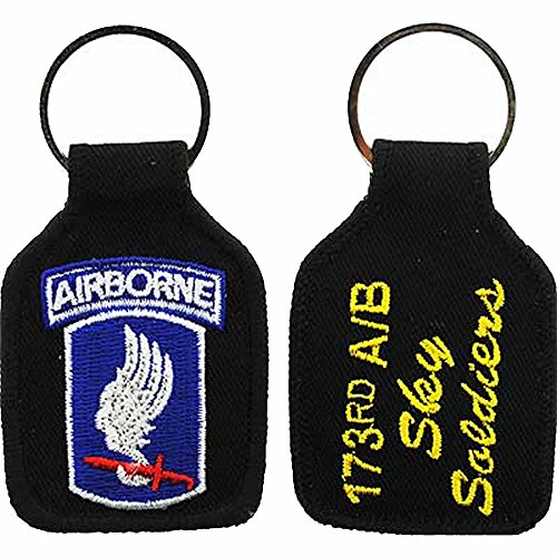 U.S. ARMY 173RD AIRBORNE DIVISION SKY SOLDIERS KEY CHAIN - Multi-Colored - Veteran Owned Business (173rd Division Airborne)
