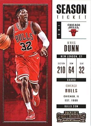 7e0bd0af7 2017-18 Panini Contenders Season Ticket  98 Kris Dunn Chicago Bulls  Basketball Card