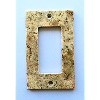 Genial Scabos Travertine Switch Plate Cover Rocker   2.75 X 4.5 IN