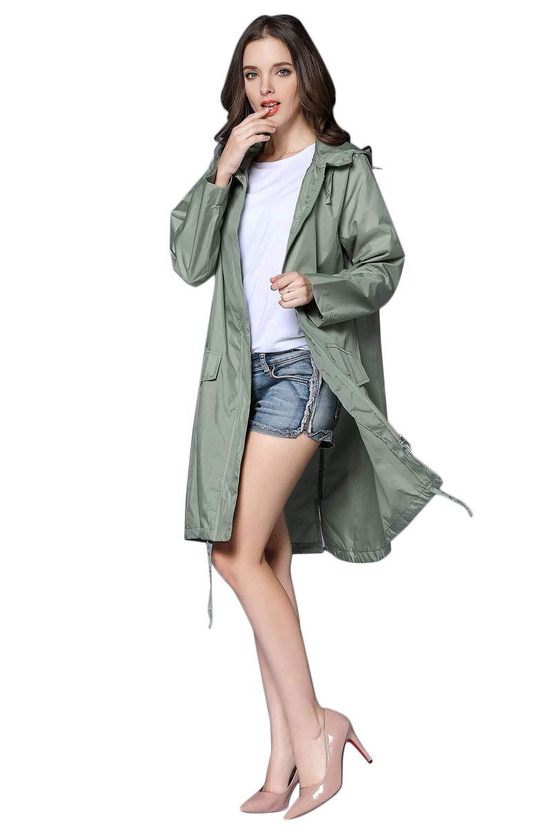 Thomas Home Women's Packable Waterproof Rain Jacket Outdoor Raincoat by THOMAS HOME