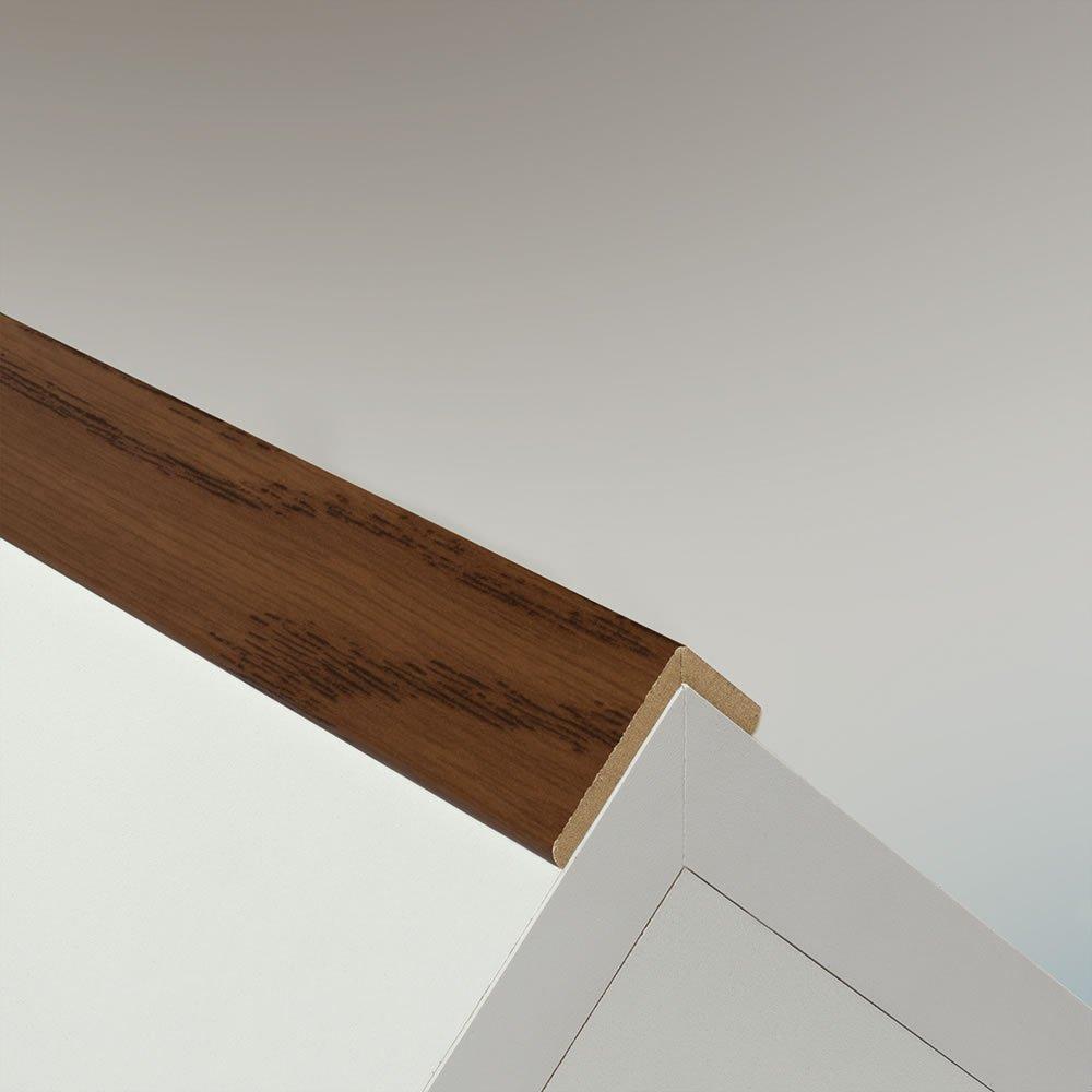 Winkelleiste Schutzwinkel Winkelprofil Tapeten-Eckleiste Abschlussleiste Abdeckleiste aus MDF in Rustikal 2600 x 42 x 22 mm