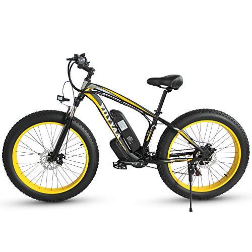 XXCY Bicicletta elettrica da Uomo E-Bike Fat Snow Bike ...