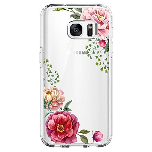 Pattern Edge (Samsung Galaxy S6 Edge Case,Flyeri Crystal Fashion Floral Pattern Transparent Clear Soft silicone TPU Ultra thin Phone cover back cases For Samsung Galaxy S6 Edge (5))