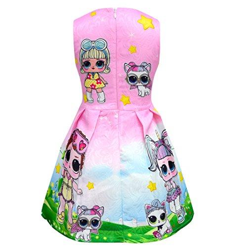 Filles Baby Thombase Pop Lil Soeur Et Animaux De Compagnie Robes De Princesse Fête Le Soir Pink2
