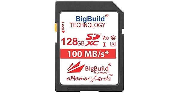 Tarjeta de Memoria Ultra r/ápida para c/ámara Canon EOS 250D BigBuild Technology Canon EOS 90D Clase 10 SDHC