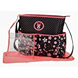 Disney Minnie Mouse Hearts and Flowers Diaper Bag with Adjustable Straps by Disney