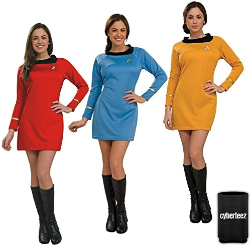Original Series Star Trek Costumes (Star Trek Women's Original Series Deluxe Uniform Dress Commander Gold (M))