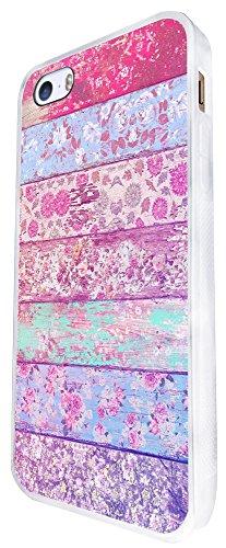 1177 - Floral Shabby Chic Roses Fleurs Multi Art Design iphone SE - 2016 Coque Fashion Trend Case Coque Protection Cover plastique et métal - Blanc