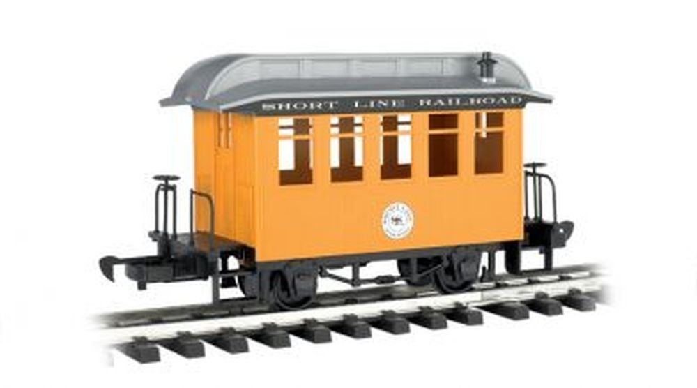 Bachmann Industries Li'l Big Haulers Coach G-Scale Short Line Railroad with Yellow/Silver Roof, Large 97097