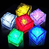 Multi-Color Liquid Sensor Ice Cubes, Dr.Light Flashing Light LED Glow Lighting for Drinking Wine Wedding Party Bar Decoration at home, bar or clubs (6 Pack)
