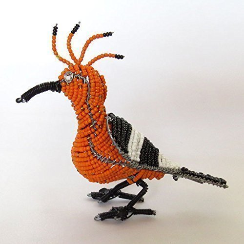 (African beaded bird, gift from Africa - Hooper)