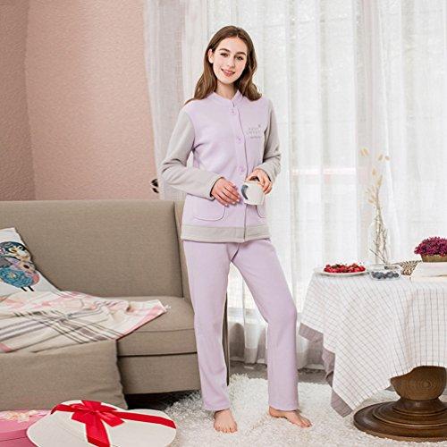 Notte da Indumenti Donne Notte da stampati Pantaloni Pajamas Indossare da da WanYang Viola Pigiami 2 Stampati Set 2 Pezzi Pjs q1Xw4Ta