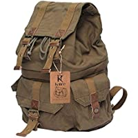 Kattee Military Style Canvas DSLR Camera Backpack Rucksack Waterproof for Sony Canon Nikon Olympus