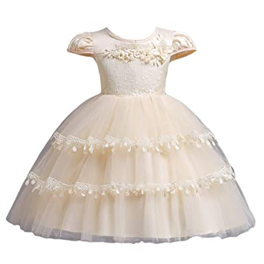 b8c23dd99 YuanDian Girls Kids Party Dresses Dance Performance Frocks Flower ...
